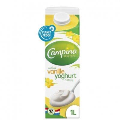 Campina Halfvolle vanille yoghurt
