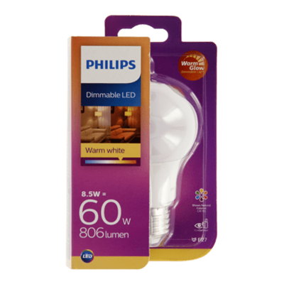 Philips LED warmglow standaard 60W E27 mat