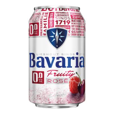Bavaria 0.0% Alcoholvrij Fruity Rose Bier Blik