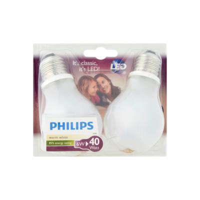 Philips Led Lamp Warm White 6W E