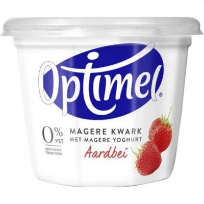 Optimel Magere kwark aardbei 0% vet