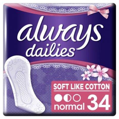 Always Dailies soft like cotton inlegkruijes