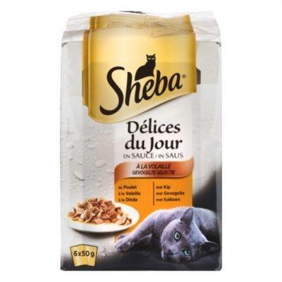 Sheba Kattenvoer nat gevogelte selectie saus