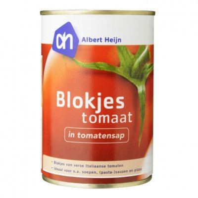 Huismerk Blokjes tomaat in tomatensap