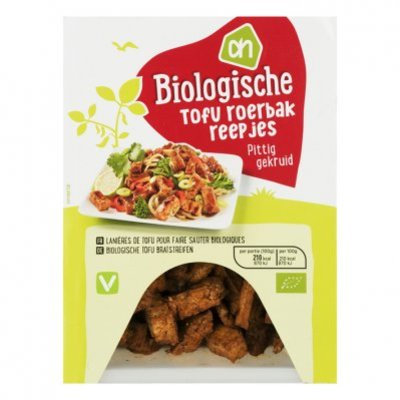 Huismerk Biologisch Tofu roerbakreepjes pittig gekruid