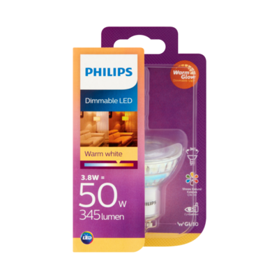 Philips Dimmable LED Lamp Warm White 5.5W GU