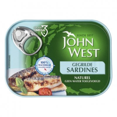 John West Gegrilde sardines naturel MSC