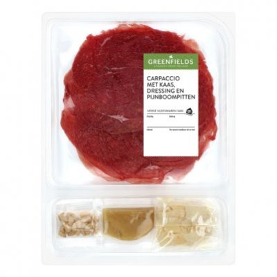 Huismerk Greenfields carpaccio