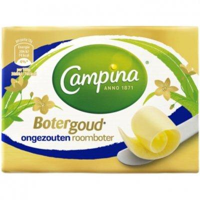 Campina Botergoud ongezouten roomboter