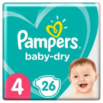 Pampers Baby dry carrypak maat 4