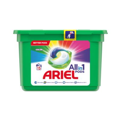Ariel Allin1 Pods Kleur Wasmiddelcapsules 15 Wasbeurten