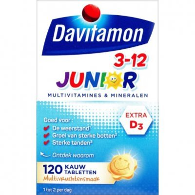 Davitamon Junior kauwvitamines 3-12 jaar