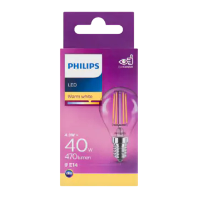Philips LED Warm White 4.3W E