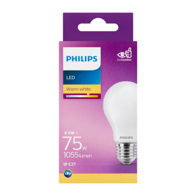 Philips LED Lamp Warm White 8.5W E