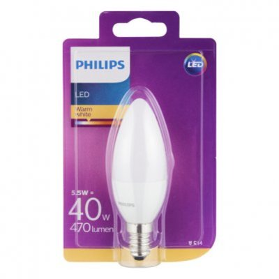 Philips Led warm white E14 40W 470 lumen