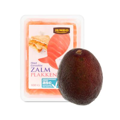 Jumbo Gerookte Zalm en Avocado