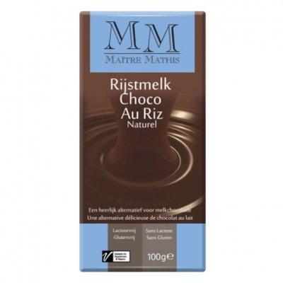 Maitre Mathis Rijstmelk choc. lactosevrije reep
