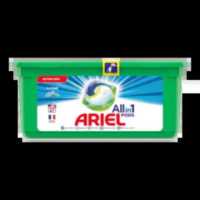 Ariel Allin1 Pods Alpine Wasmiddelcapsules 27 Wasbeurten
