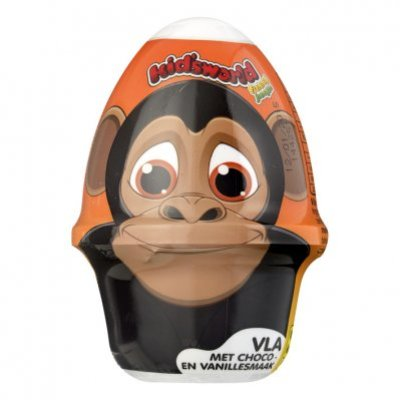 Kid's world Chocolade-vanillevla + verrassing