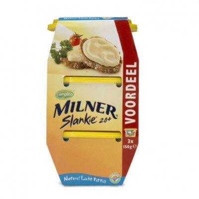 Milner Slankie smeerkaas 20+ naturel voordeel