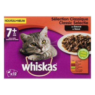 Whiskas Kattenvoer nat classic  in saus 7+ jaar