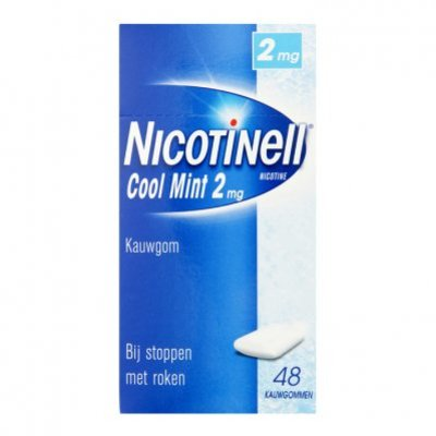 Nicotinell Mint kauwgom 2mg stoppen met roken