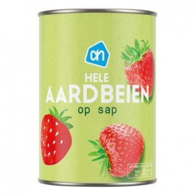 Huismerk Aardbeien op lichte siroop