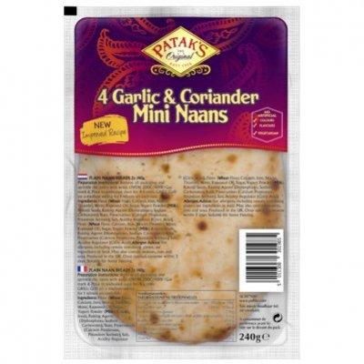 Patak's Mini naan garlic & coriander