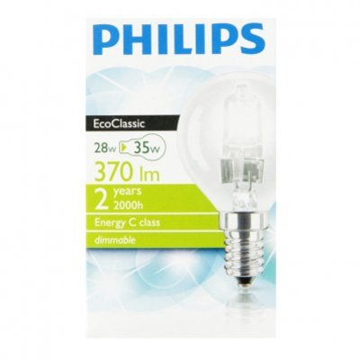 Philips Ecoclassic helder kogel 28W kl. fitting