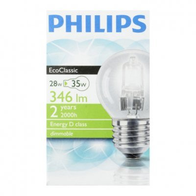 Philips Ecolamp helder kogel 28W grote fitting