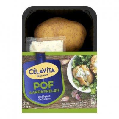 CêlaVíta Pofaardappelen met yoghurt-knoflook saus