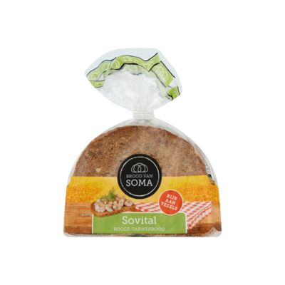 Brood van Soma Sovital Rogge-Tarwebrood