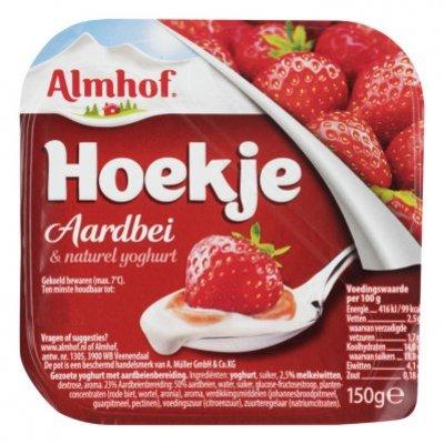 Almhof Hoekje aardbei naturel yoghurt