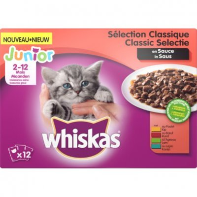 Whiskas Kattenvoer nat classic in saus kitten