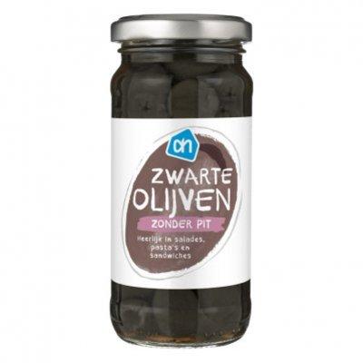 Huismerk Zwarte olijven zonder pit