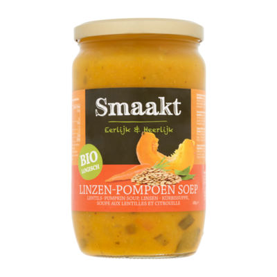 Smaakt Biologisch Linzen-Pompoen Soep