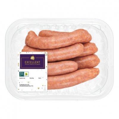 Huismerk Mini gourmet varkenschipolata worstjes