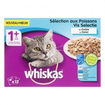 Whiskas Kattenvoer nat vis in gelei 1+ jaar