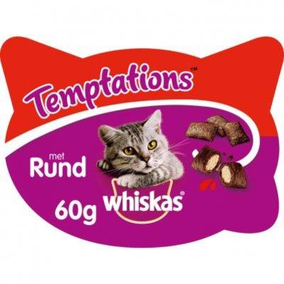 Whiskas Kattensnacks temptations rund