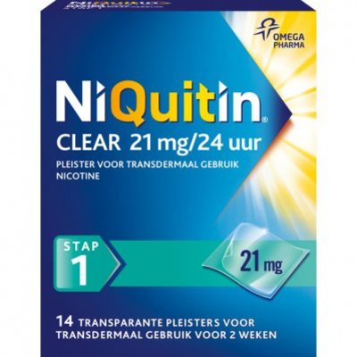 Niquitin Clear pleisters 21 mg stoppen met roken