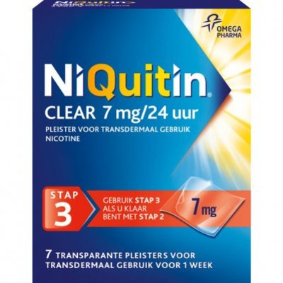 Niquitin Clear pleisters 7 mg stoppen met roken