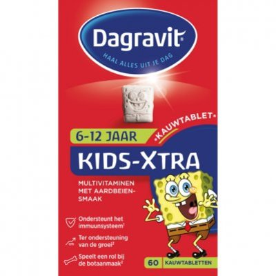 Dagravit Multivitaminen kind 6-12 jaar aardbei