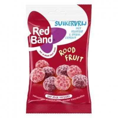 Red Band Suikervrij winegum rood fruit