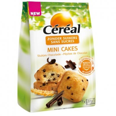 Céréal Mini cake met stukjes choc suikerbewust