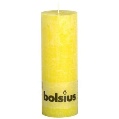 Bolsius Kaars rustiek sunshine yellow