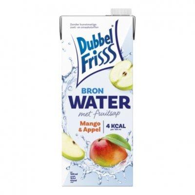 DubbelFrisss Bronwater met fruitsap mango & appel