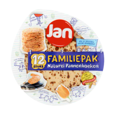 Jan Familiepak Naturel Pannenkoeken 12 Stuks