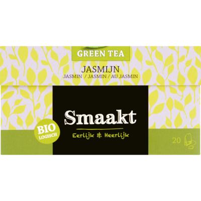 Smaakt Groene thee biologisch jasmijn 20 zakjes