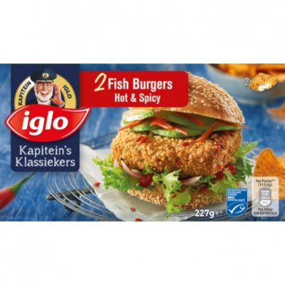 Iglo Fish burger hot & spicy