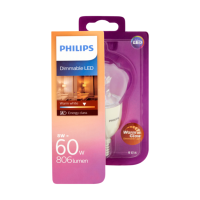 Philips Dimmable LED Lamp Warm White 8W E